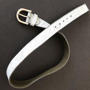 Armani blue stonewashed belt. Green back.